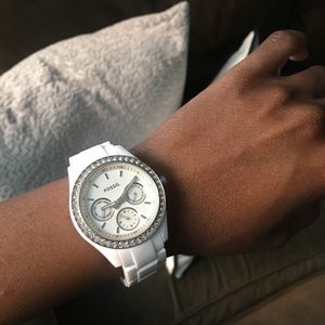 Fossil white watch. In excellent working condition